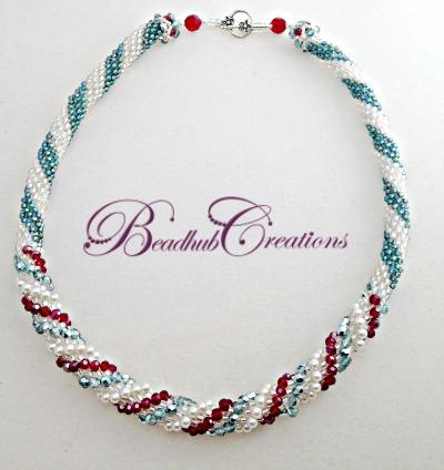 Metallic teal necklace